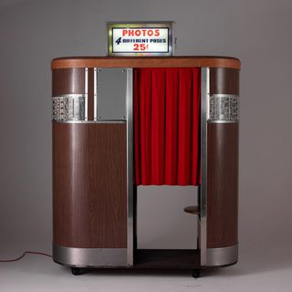 Old fashioned photo booth