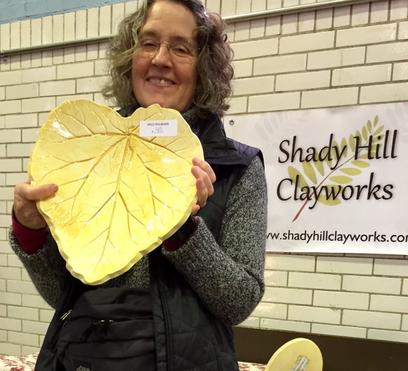 Ceramic artist plant leaf clay trays interview