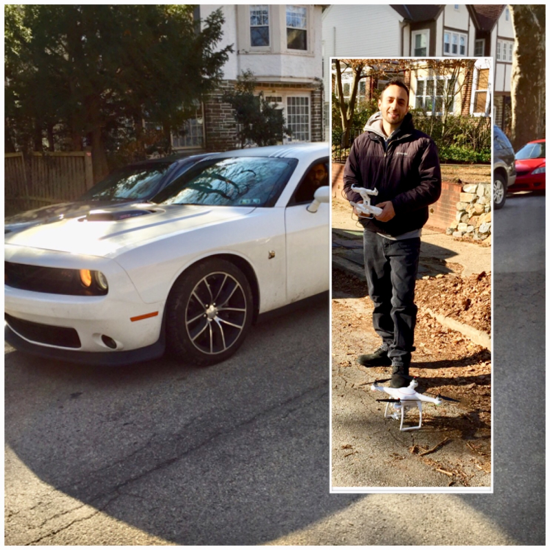 Mobile car detailing duo make drone movie