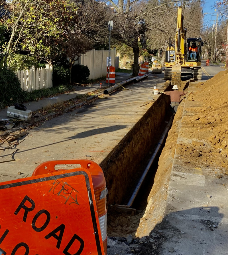 New water line ardleigh street
